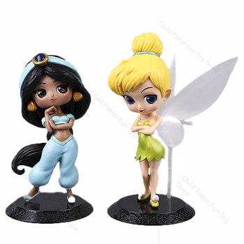 Disney Princess Q Version Characters Bell Jasmine Princess PVC Action Figure Dolls KidsToys for Children Birthday Gift A94 недорого
