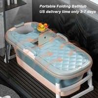 Portátil plegable bañera niños adultos Piscina/1,2/1,38 m plegable bañera de masaje bañera para adultos de vapor de doble uso bañera bebé
