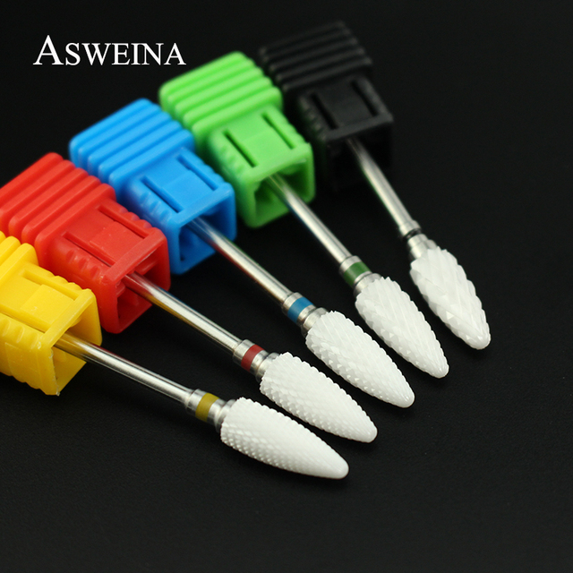 28 Type Ceramic Nail Drill Bits Milling Cutter Rotary Burr Bits Electric Machine for Manicure Accessories Nail Files Art Tools 2