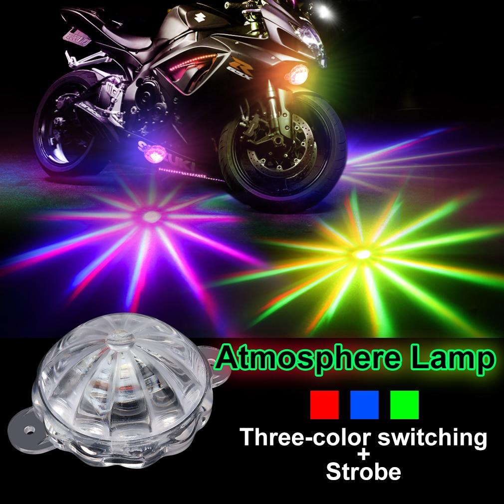 Motorcycle Decorative Lamp RGB Atmosphere Lamp Car Led Decoration Lamp 12V Moto Chassis Light Motorbike Flash Strobe Light