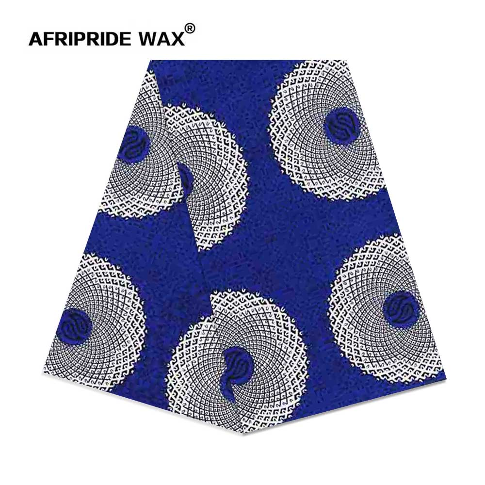2019 africain ankara tissu de haute qualité en gros africain fleur 100% coton véritable cire brocart tissu pour vêtements A18F0356