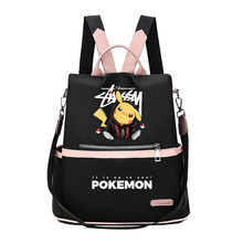 Anime Pokemon Kasual Ransel Tas Sekolah Gadis Manis Cosplay Tas Travel Oxford Ransel Fashion(China)