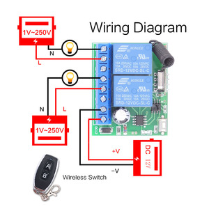 Image 5 - 433MHz Universal Wireless Remote Control DC 12V 2CH rf Relay Receiver and Transmitter for Universal Garage door and gate Control