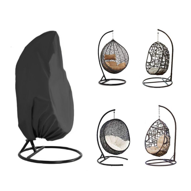 Garden Hanging Swing Chair Cover Dustproof Waterproof UV-resistant Protector Universal Cover for Outdoor Patio Furniture