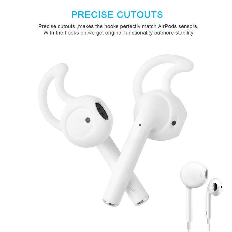סיליקון החלפת ב-אוזן ספורט Earbud מגן כיסוי אלחוטי אוזניות מקרה אנטי להחליק אוזניות כיסוי עבור אפל AirPod