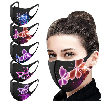Pretty Butterfly Mask Multiple Proteccion Winter Mouth Caps Adult Fashion Washable Reusable Pollution Cover Face Masks Masque image
