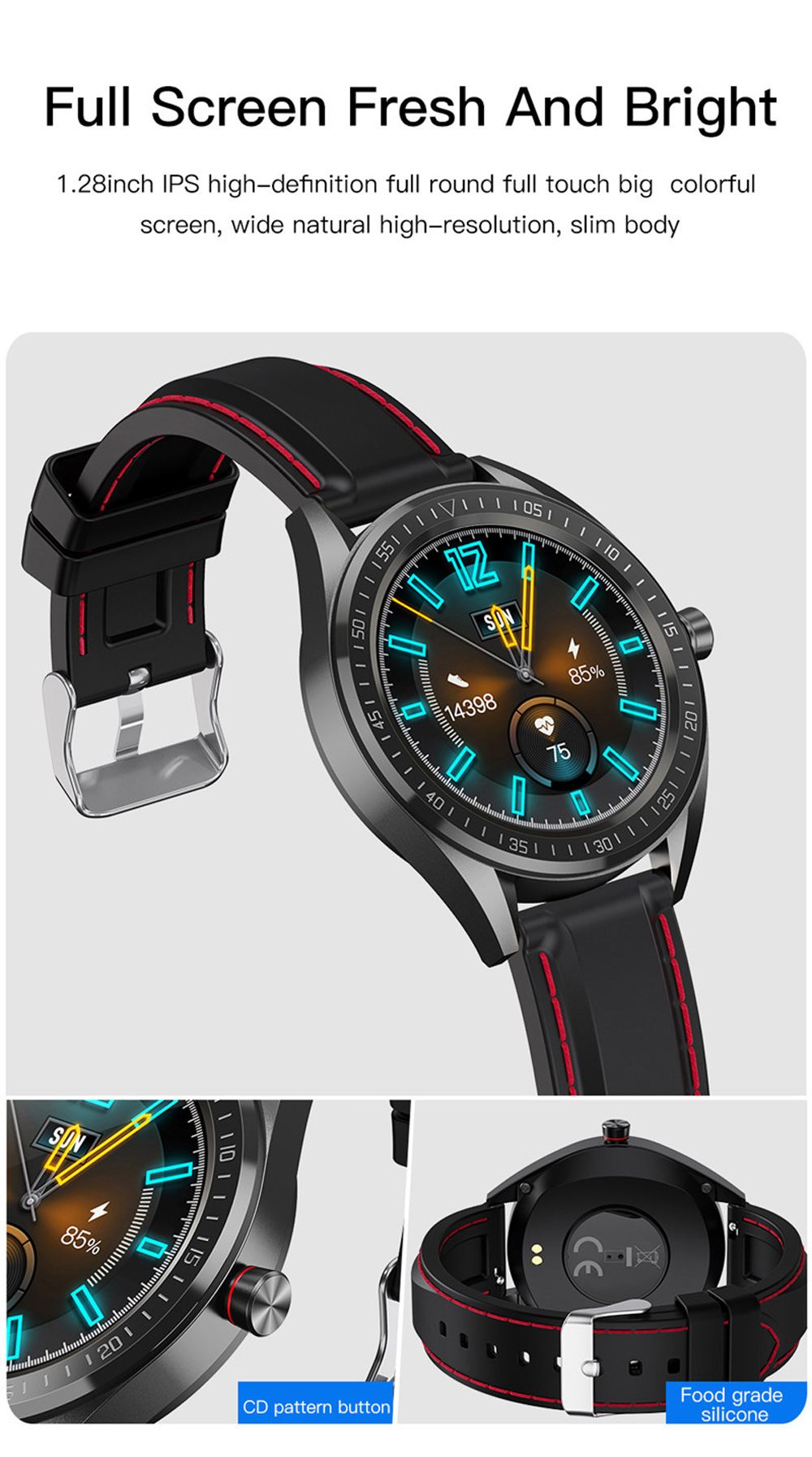 ip68 à prova dip68 água smartwatch controle