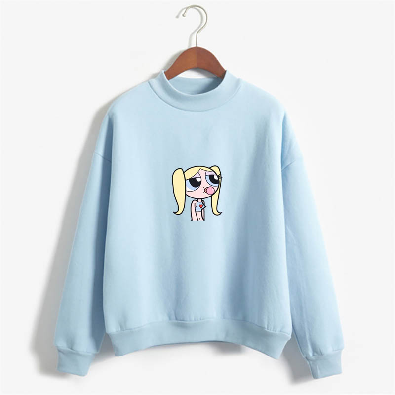 2020 Kawaii Cartoon Buttercup  Chicas Superpoderosas Sweatshirt Streetwear Harajuku Flecce Tops Hoodies Women Fashion Clothing