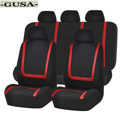 Universal RED Trim Black Carpet Cloth Car Mats fits Citroen Relay Saxo Xantia