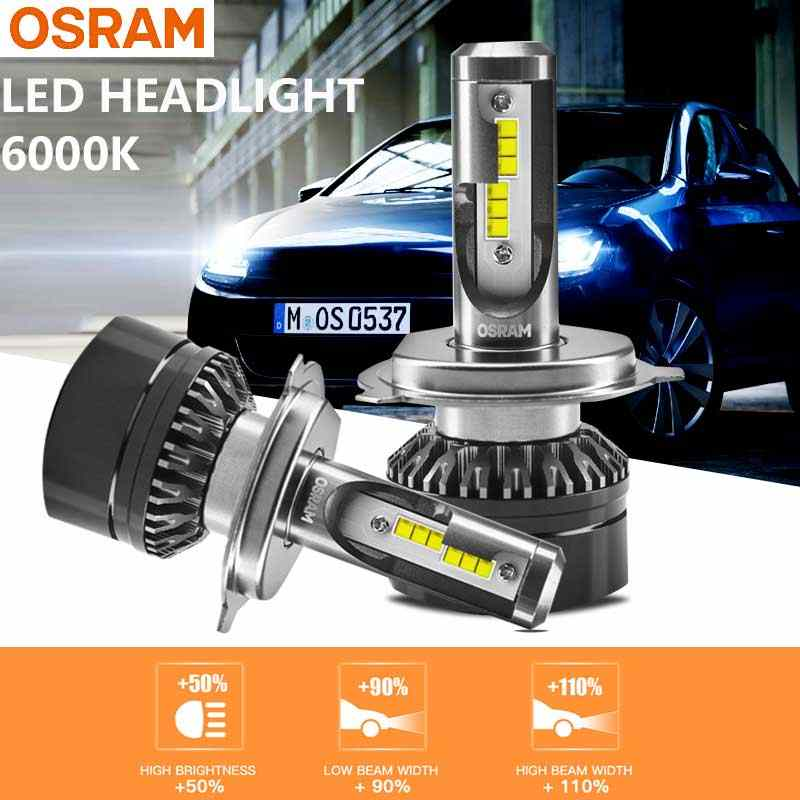 OSRAM LED H4 9003 HB2 LEDriving HL Headlight 12V 6000K Cool White Car Lamps Original Hi Lo Beam 50% More Bright 16204CW (Twin)