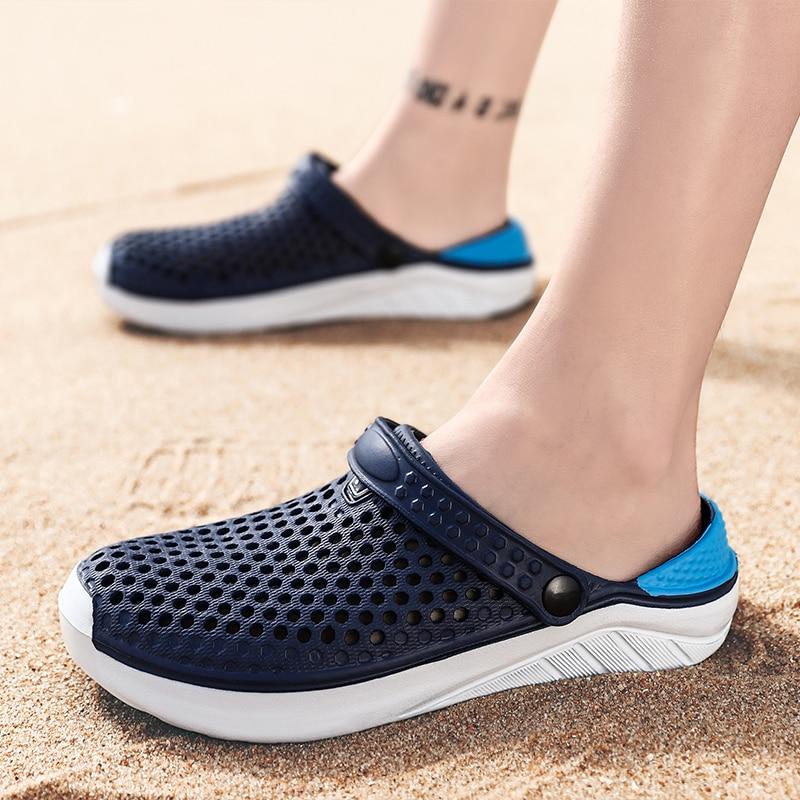Unisex Fashion Beach Clogs Thick Sole Slipper Waterproof Anti-Slip Sandals Flip Flops For Women Men