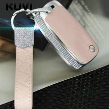 цена на Diamond Leather Car key Cover Case Car Key Bag Fit for VW Volkswagen Skoda Golf7 Polo Tiguan Passat Jetta MK5 MK6 T5 Beetle Etc