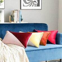 Slip Cover Pillow Case Splicing Two-color High-grade Velvet Cushion Sofa European Style