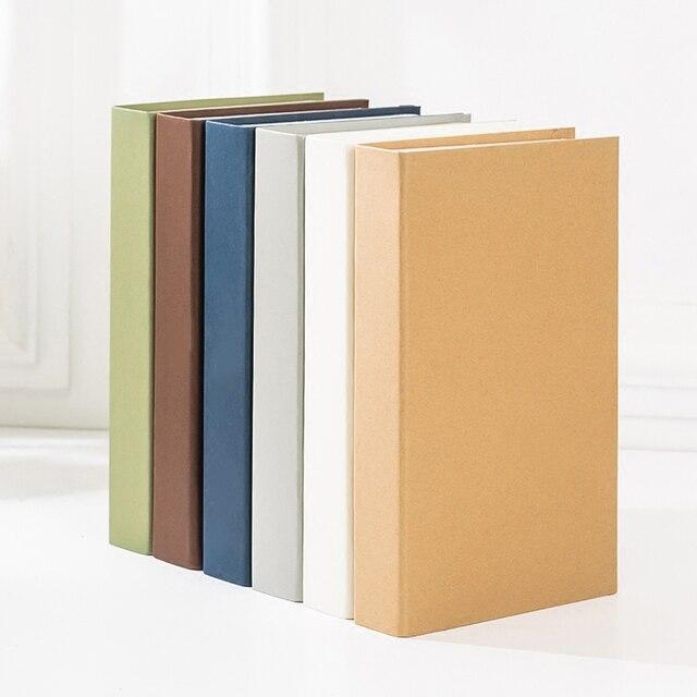 Imitacja książki w jednolitym kolorze dekoracja fałszywa książka na halę wystawową rekwizyty dla modeli Case ozdoby biurowe kawiarnia dekoracja baru Book