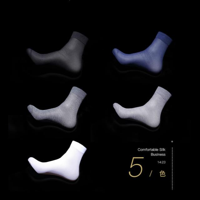 Тонкие мужские носки из бамбука 10 пар 2