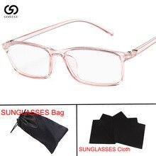 Women Glasses Frame Men Anti Blue Light Eyeglasses Vintage Square Clear Lens