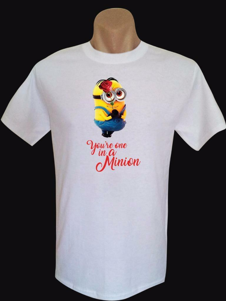 Valentine Minion, You're One In A Minion Men's Quality Brand New T-Shirts
