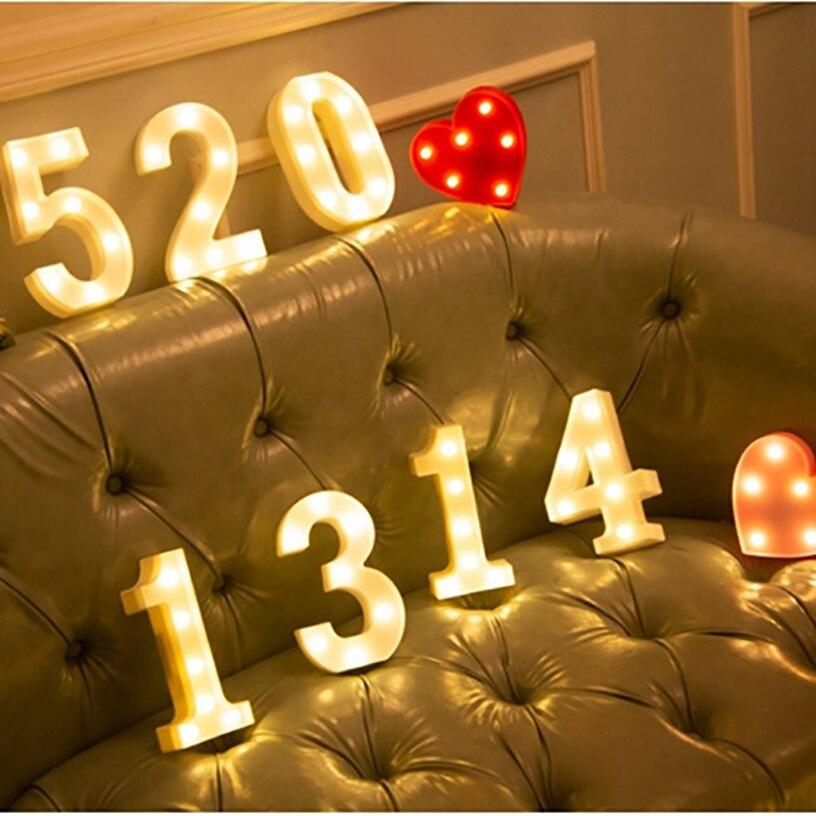 16 см Пластик письмо светодиодный ночной Светильник Marquee знак Алфавит светильник s лампа для дома клуб Крытый вечерние свадебные украшения