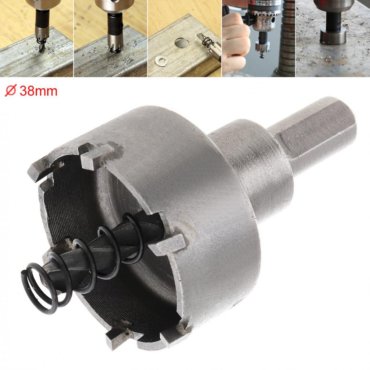 26mm HSS Hole Saw Drill Bit Cutter Tool For Metal Alloy Wood w// Hex Key Set