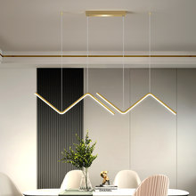 W-Shaped LED Ceiling Chandelier For Home Interior Restaurant Bar Modern Minimalist Chandelier Light-Emitting Diode