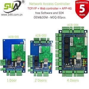 Image 2 - Dört kapı ağ erişim kontrol paneli kurulu yazılım ile iletişim protokolü tcp/ip kartı Wiegand okuyucu 4 kapı kullanımı