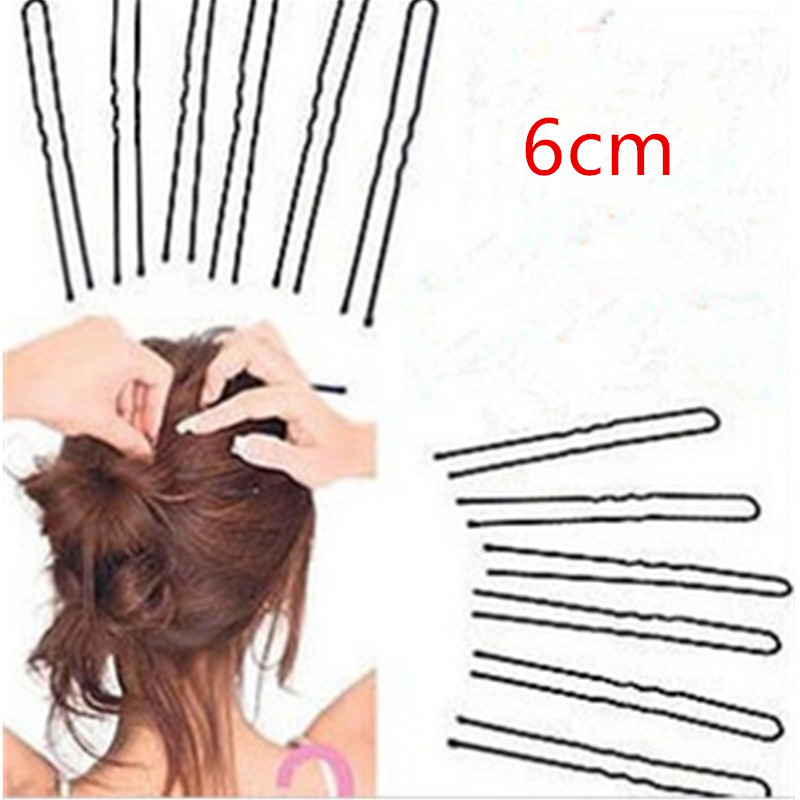 10/30/50 Pcs 6CM Hair Waved U-shaped Bobby Pin Barrette Salon Grip Clip Hairpins Black Hair Combing Device Hairpins
