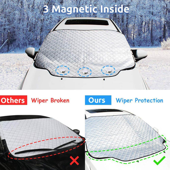 Car Windshield Snow Cover Waterproof Protection For Winter 7