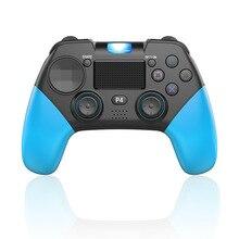 Controlador de jogo sem fio dos sensores  de 6 eixos do joystick ps4 gamepad com barra clara conduzida do orador para