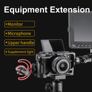 Image 5 - UURig אלומיניום מצלמה כלוב עבור Canon M6 Mark II עם 1/4 3/8 חוט חור Vlog כלוב עבור מיקרופון LED אור