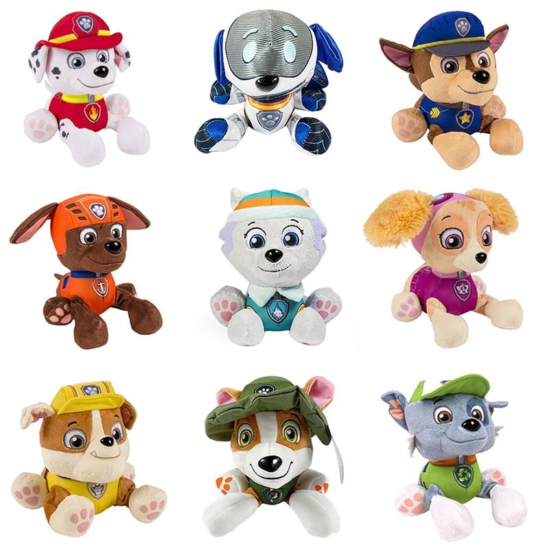 Paw Patrol Dog Ryder Marshall Chase Skye Everest Tracker Robo-Dog Plush Doll Anime Puppy Dog Toys Kids Plush Toys Doll Gift Toys