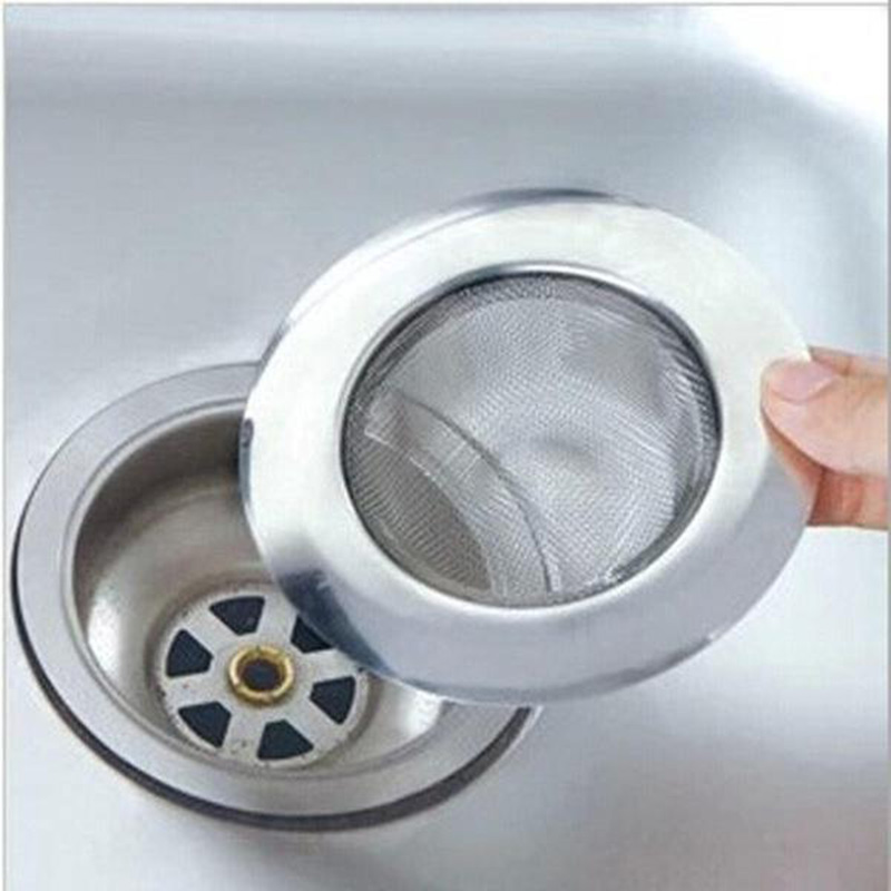 7cm Stainless Steel Kitchen Sink Filter Drain Hole Washing Dishes Anti-blocking Filter Recessed Sink Garbage Drain Storage Net