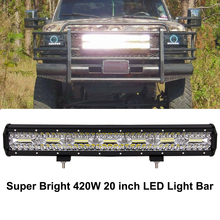 цена на ECAHAYAKU 20 Inch 420W Combo Led Light Bars Spot Flood Beam for Work Driving Off road Boat Car Tractor Truck 4x4 SUV ATV 12V 24V