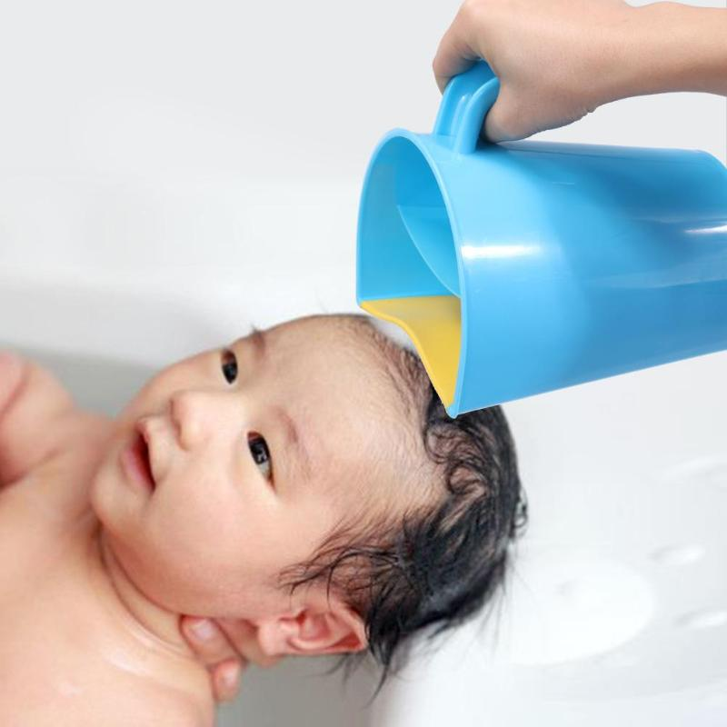 Curved Rubber Baby Bathing Shampoo Cup Pregnant Hair Washing Bailer Cling Forehead Shower Accessories
