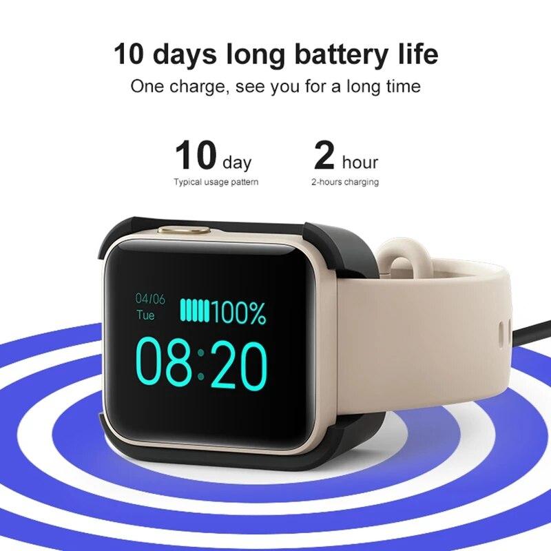 Mi Watch Lite глобальная версия GPS фитнес-трекер монитор сердечного ритма спортивный браслет 1,4 дюйма Bluetooth 5,0 умные часы-3