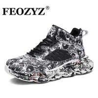 FEOZYZ 2019 Neue Graffiti Street Turnschuhe Männer Plus Größe 47 48 Laufschuhe Für Männer Herbst Winter Zapatos De Hombre