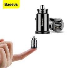 Baseus – Mini chargeur de voiture pour iPhone x, Samsung s10, Xiaomi mi 9, 3,1a, charge rapide, USB, adaptateur, pour téléphone portable