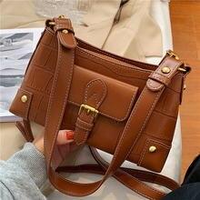 Винтажные женские сумки через плечо в стиле ретро с каменным