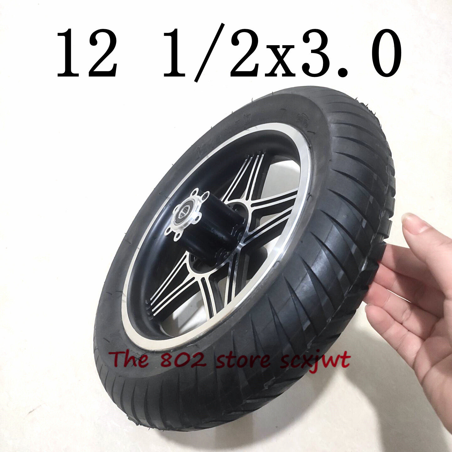 Lightning Delivery 12 Inch 12 1/2 X 3.0 Wheel Tyre with Disc Brake Hole Hub for Electric Scooters and E-Bike Folding Bicycle