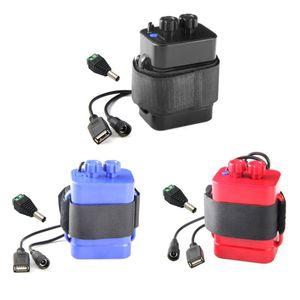 Водонепроницаемый чехол для аккумулятора DIY 6x18650 с 12 В постоянного тока и USB питанием для велосипеда светодиодный светильник сотовый телефо...