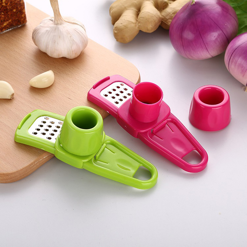 2019 Kitchen Accessories Manual Portable Garlic Presses Chopper Crusher Ginger Stainless Steel Grinding Kitchen Tools Gadgets