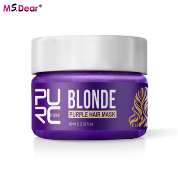 100ml No Yellow Blonde Hair Shampoo Anti Brass Off Purple Shampoo Shiny Hair Color  Bleaching And Dyeing Yellow Hair Care Mask