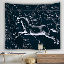 Twelve Constellation Wall Cloth Tapestries Galaxy Planet Printed Tapestry Wall Hanging Picture Tablecloth Beach Towel Decoration цена