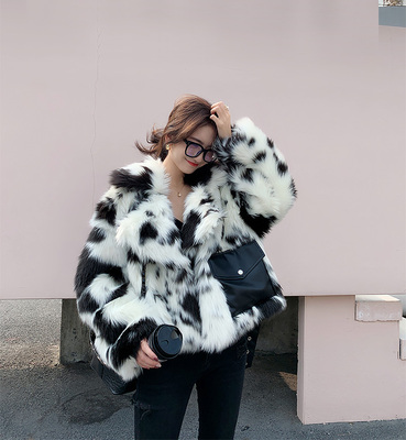 2020 New Style High-end Fashion Women Faux Fur Coat C33
