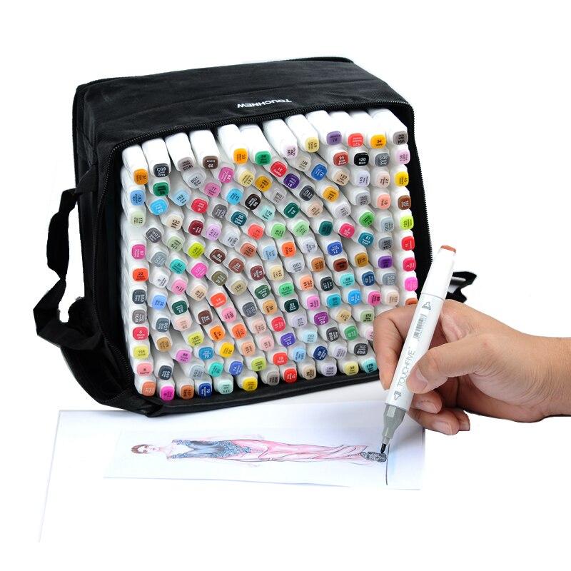 Где купить Touchfive товары для художественного эскиза с двойной головкой маркер авторучка растворимый авторучка мультфильм граффити маркеры ручки для дизайнеров