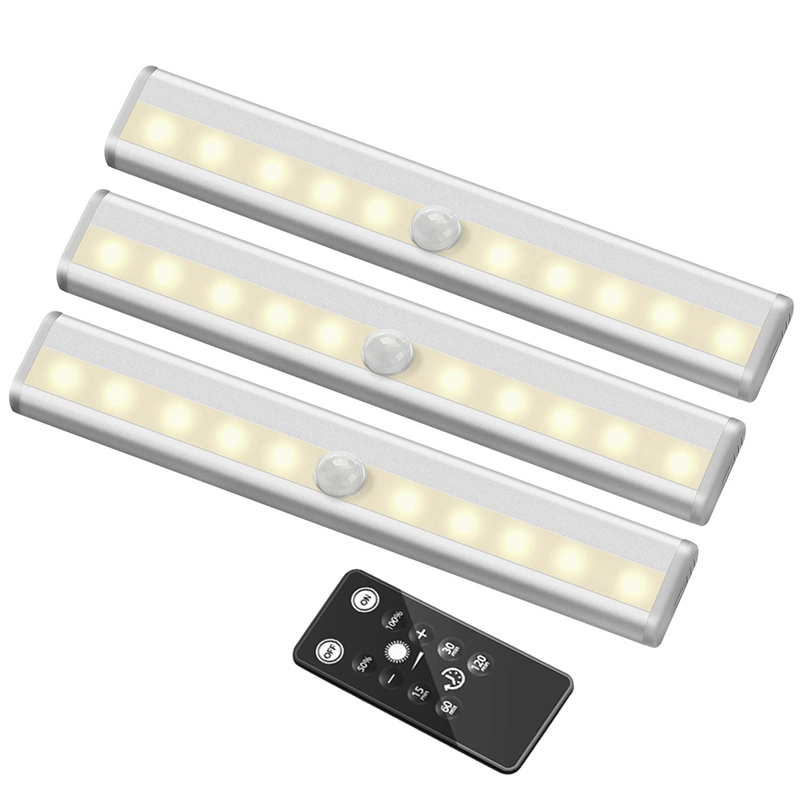 Us 17 15 12 Off Remote Control Led Lights Bar Wireless Portable Under Cabinet Lighting Dimmable Closet Light Stair Night Stick On