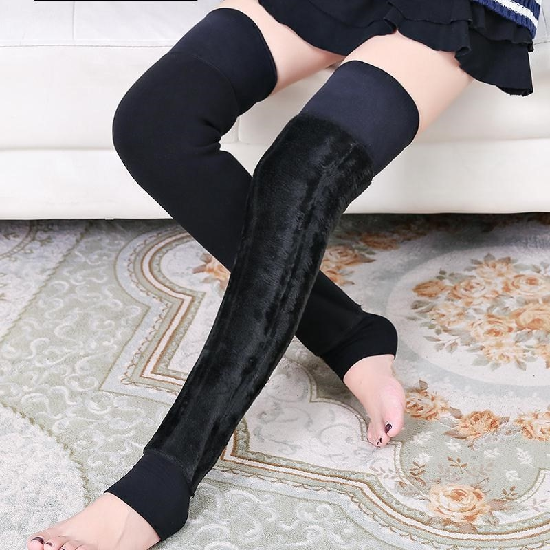 Exta-long Long Thick Outer Wear Plus Velvet Kneecap Legguard Warm Winter Men And Women Kneecap Cover Case Old Cold Legs Foot Soc