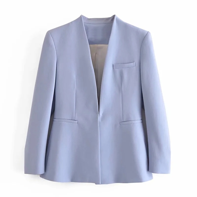 Za Women's Pants Suit Office Blazer Solid Jackets Elegant Coat Female 2 Piece Set 2021 Slim Outfit With Belt High Waist Trousers 4