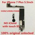 100% оригинальная разблокированная материнская плата для iphone7plus 128 ГБ с сенсорным ID  бесплатный iCloud  128 ГБ + инструмент + подарок