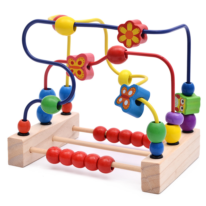 Wooden Toys Wooden Bead-stringing Toy Educational Toy Exercise Hand-Eye Coordination Exercise Finger Toy Tmall Signature Wholesa
