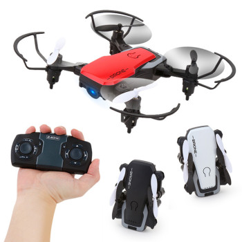 2.4g folding four-axis aircraft WIFI fixed height gravity real-time aerial photography UAV model
